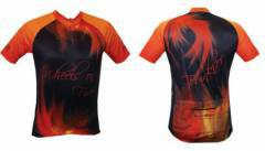 חולצת רכיבה - Funkier Men's Sublimation Flames Cycling Jersey