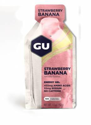 ג\'ל אנרגיה תות בננה -  Gu Energy Gel Strawberry Banana