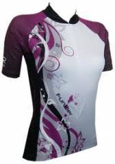 חולצת רכיבה נשים -  Funkier Purple Butterfly Women's Cycling Jersey J383