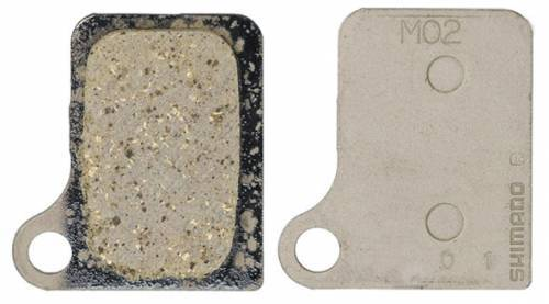 SHIMANO רפידות דיסק - M02 Resin Pad & Spring For Deore