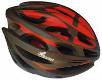 ROCKET COMP Bike Helmet-Black-Red